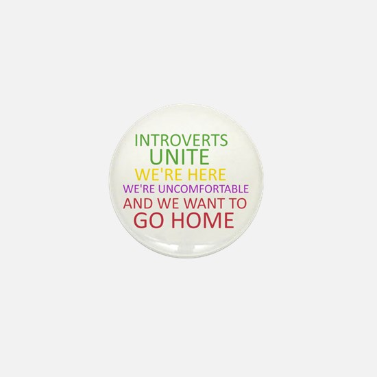 Introverts Mini Button