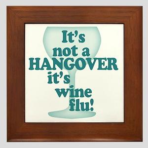 Funny Wine Drinking Humor Framed Tile
