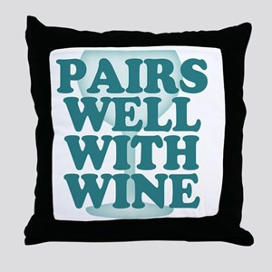 Funny Wine Drinking Humor Throw Pillow