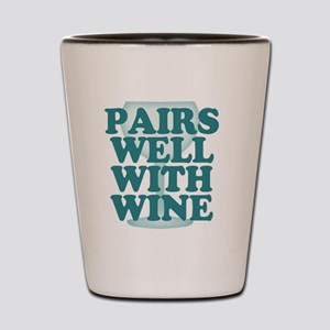 Funny Wine Drinking Humor Shot Glass