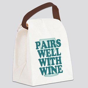 Funny Wine Drinking Humor Canvas Lunch Bag