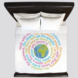 Walk with the dreamers King Duvet
