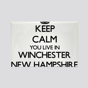 Keep calm you live in Winchester New Hamps Magnets