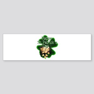 St Patrick's Day Pot of Gold Bumper Sticker