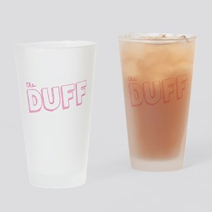 The DUFF Doodled Text Drinking Glass