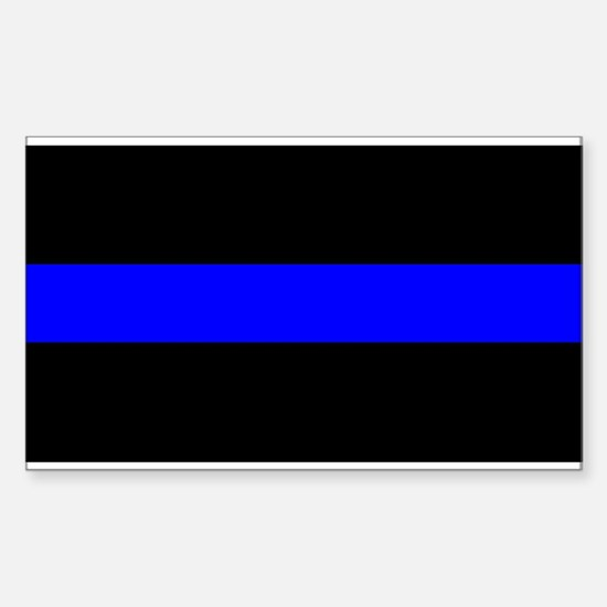 Cool The thin blue line Sticker (Rectangle)