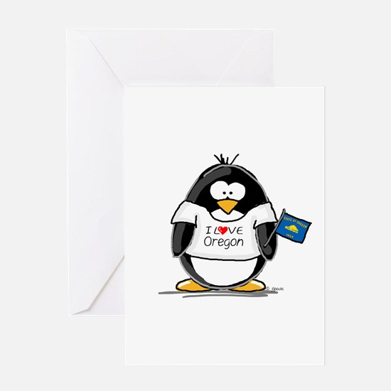 Oregon Penguin Greeting Card