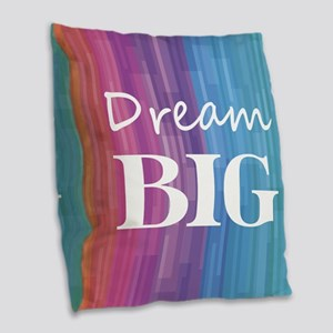 Dream Big Burlap Throw Pillow