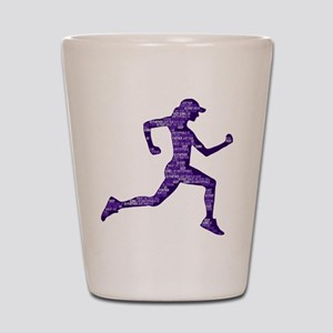 Run Hard Shot Glass