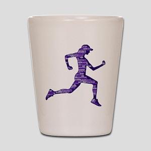 Run Hard Shot Glass