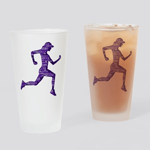 Run Hard Drinking Glass