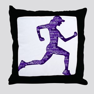 Run Hard Throw Pillow
