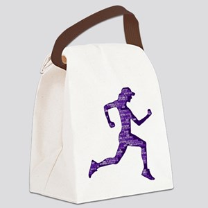 Run Hard Canvas Lunch Bag