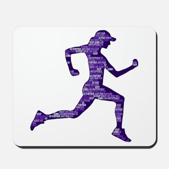 Run Hard Mousepad