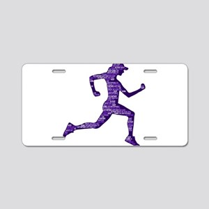 Run Hard Aluminum License Plate