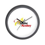 Scuba Monkey Wall Clock