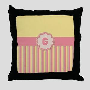 Stripes2015G1 Throw Pillow