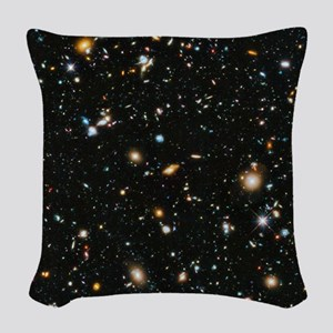 Evolving Universe Woven Throw Pillow