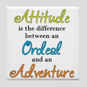 Attitude Quote Tile Coaster
