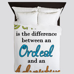 Attitude Quote Queen Duvet