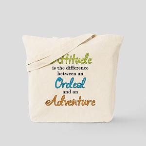 Attitude Quote Tote Bag