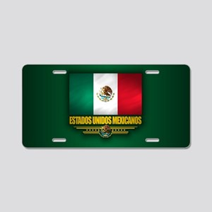 Flag of Mexico Aluminum License Plate