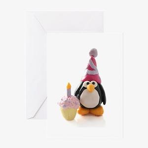 Birthday Penguin Greeting Card