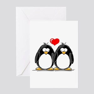 Love Penguins Greeting Card