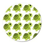 Sea Turtles Round Car Magnet