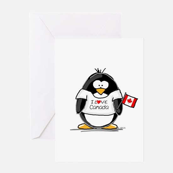 Canada Penguin Greeting Card