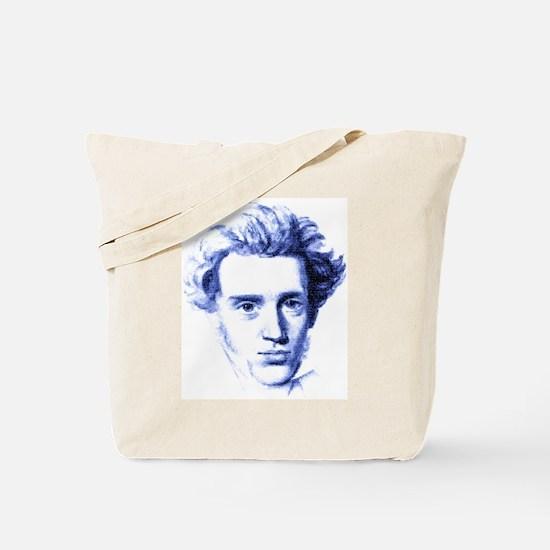 Blue Kierkegaard Tote Bag