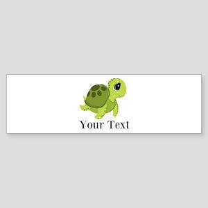 Personalizable Sea Turtle Bumper Sticker