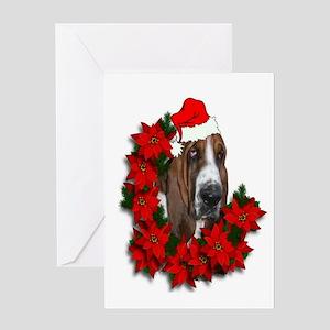 Basset Christmas Greeting Card