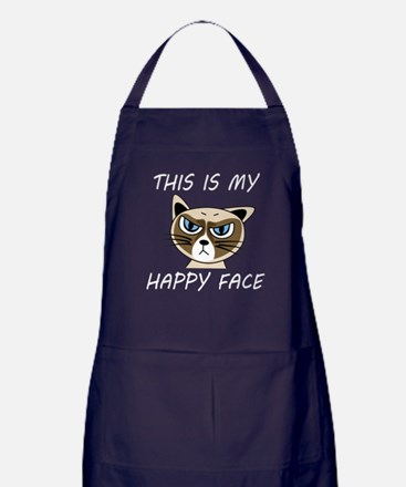 This Is My Happy Face (Dk) Apron (dark)