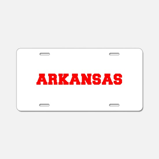 ARKANSAS-Fre red 600 Aluminum License Plate
