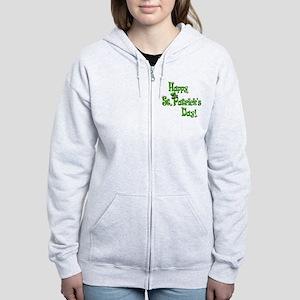 Happy St. Patricks Day Women's Zip Hoodie