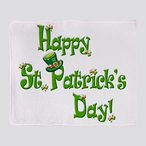 Happy St. Patricks Day Throw Blanket