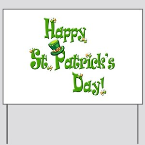 Happy St. Patricks Day Yard Sign