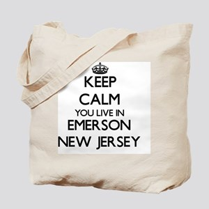 Keep calm you live in Emerson New Jersey Tote Bag