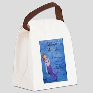 Michigan Mermaids wine Canvas Lunch Bag