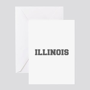 ILLINOIS-Fre gray 600 Greeting Cards