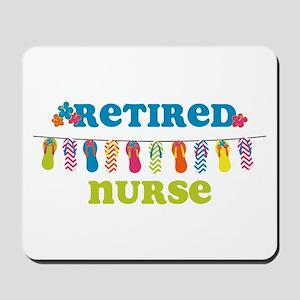 Flip Flops Retired Nurse Mousepad