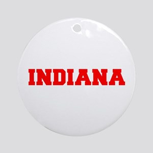 INDIANA-Fre red 600 Ornament (Round)