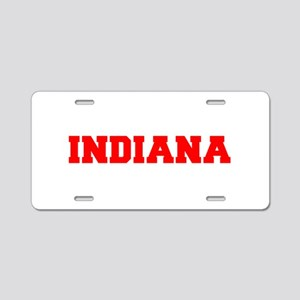 INDIANA-Fre red 600 Aluminum License Plate