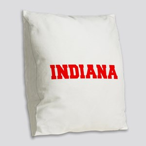 INDIANA-Fre red 600 Burlap Throw Pillow