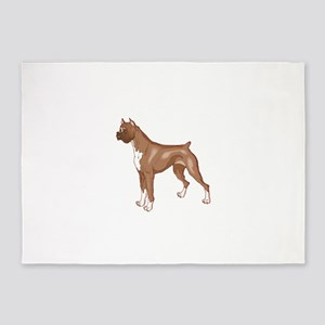 Rocky the Boxer 5'x7'Area Rug