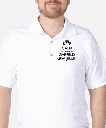 Keep calm you live in Garfield New Jers Golf Shirt