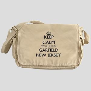 Keep calm you live in Garfield New J Messenger Bag