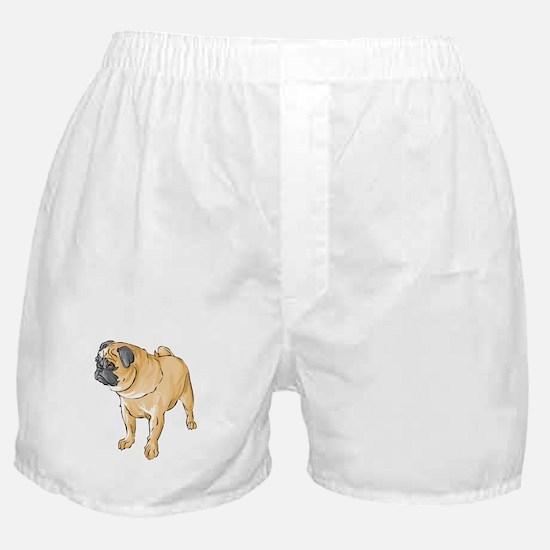 Grumpy Pug Boxer Shorts