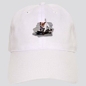Jack Russel Terrier on Skateboard Cap